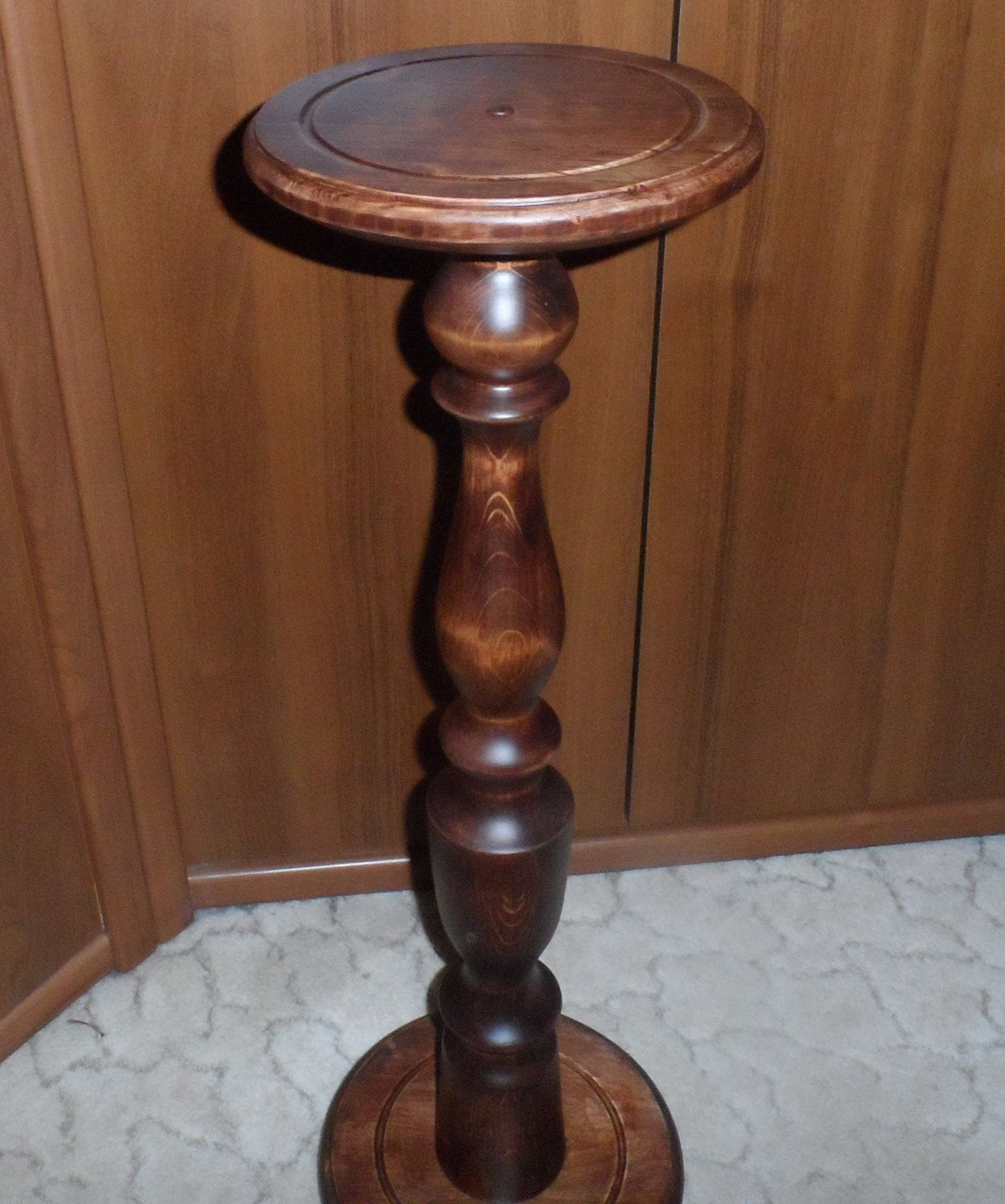 Fern stand / Plant Stand / Wood Pedestal Table / Wooden plant holder