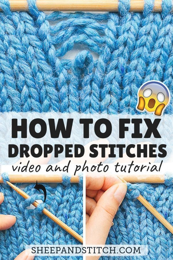 How To Fix A Dropped Stitch Sheep And Stitch Easy Knitting Projects Easy Knitting Knitting