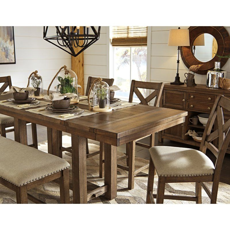 Hillary Counter Height Extendable Dining Table Double Pedestal