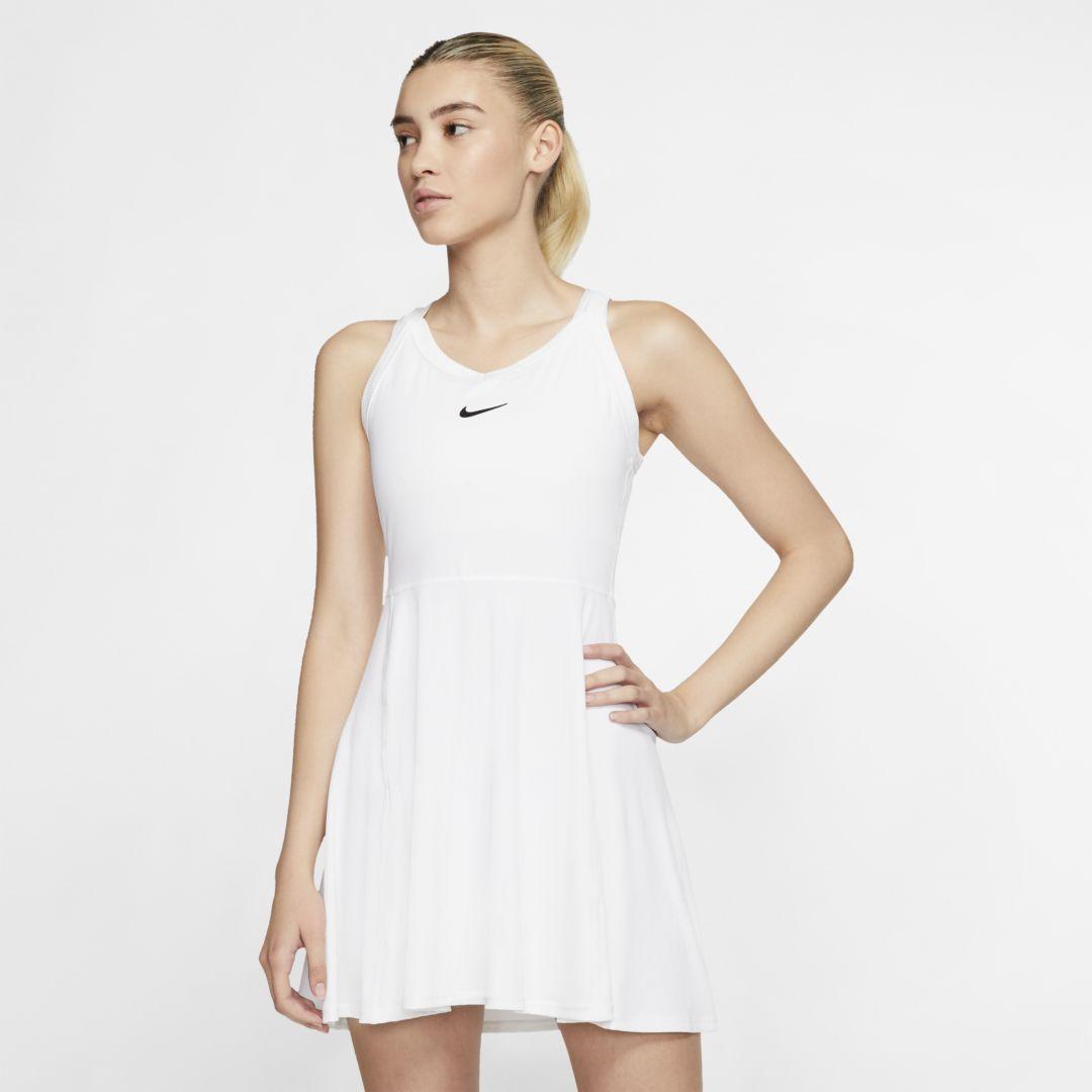 Nikecourt Dri Fit Women S Tennis Dress Nike Com In 2020 Tennis Dress Womens Tennis Dress White Tennis Dress [ 1080 x 1080 Pixel ]