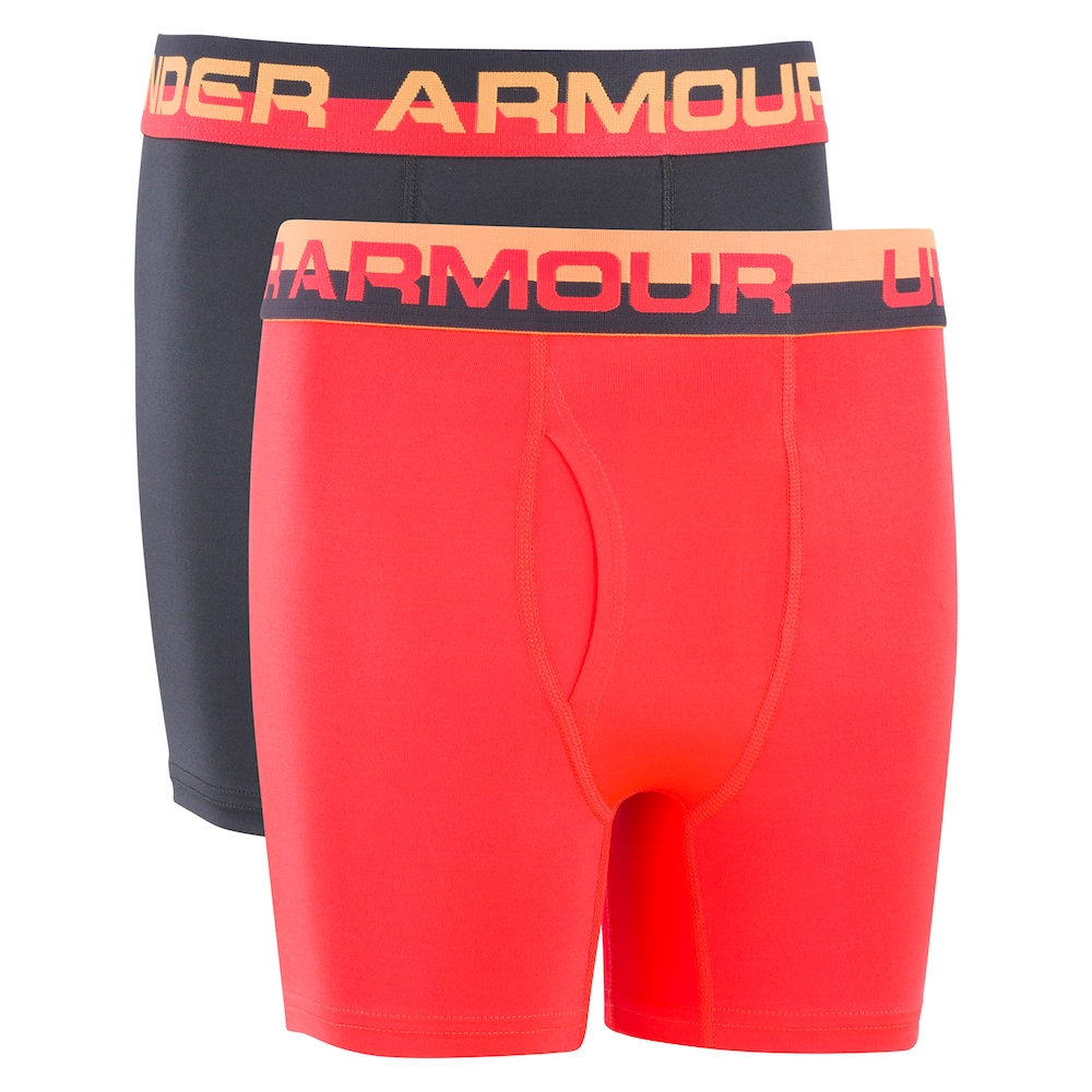 cad73dee5c9182 Boys 7-20 Under Armour 2-Pack Performance Boxer Briefs, Size: 7-8,  Multicolor