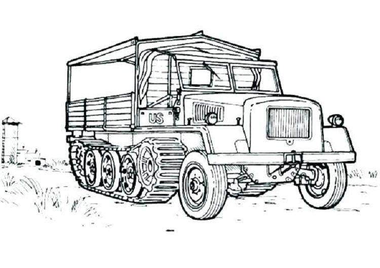 Army Truck Coloring Pages Check More At Http Coloringareas Com