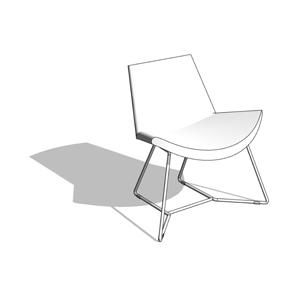 Sensational Modern Lotus Lounge Chair W Sled Base Hightower Revit Andrewgaddart Wooden Chair Designs For Living Room Andrewgaddartcom