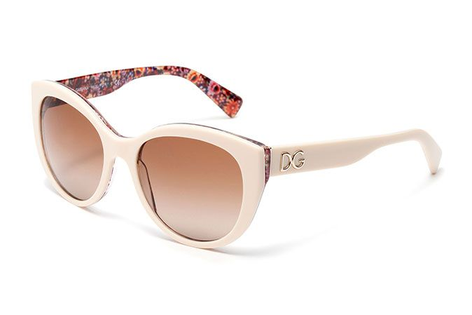 Women s ivory acetate sunglasses with cat-eye frame by Dolce   Gabbana  dg4217   Eyewear 50cb127254