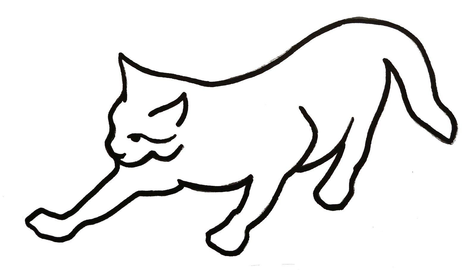 сибирская картинки котиков черно белые с контуром отпускания