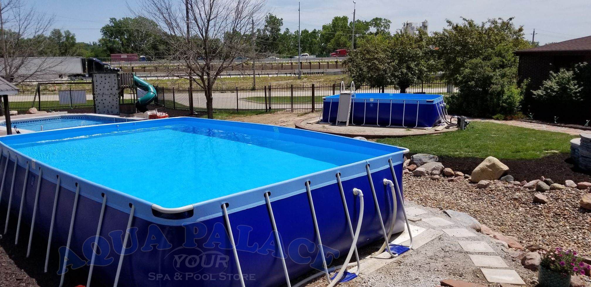 Our 1 Acre Outdoor Showgarden Is A Wonderful Way To See Many Different Pools Styles Sizes That Are Available Pool Swimming Pools Spa Pool