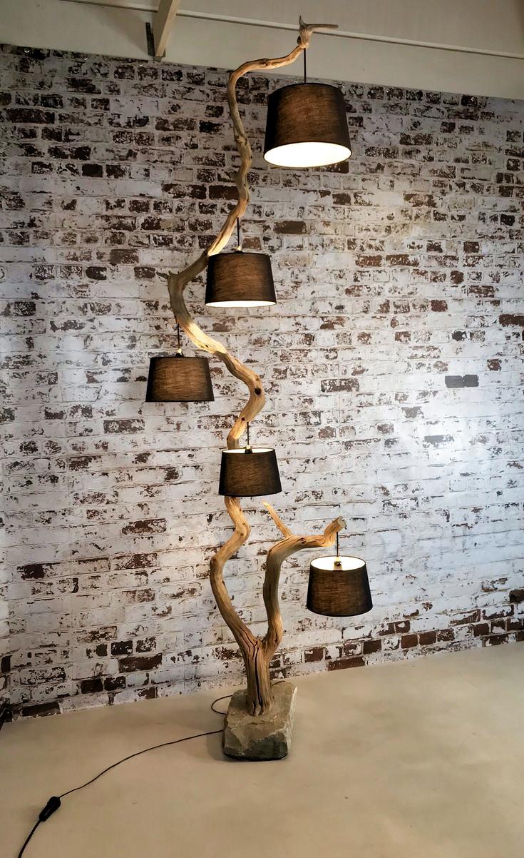 Photo of Vloerlamp uit één stuk met vijf hangers – # hangers # door # één # voor … # f …