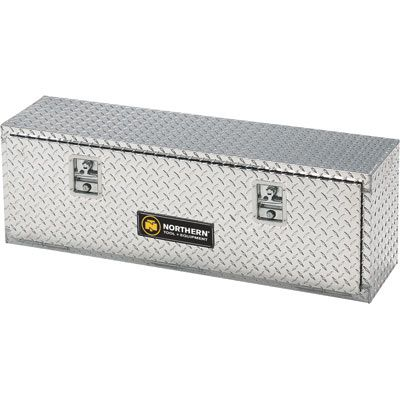 Aluminum Diamond Plate Storage Container Box with Lock 48in