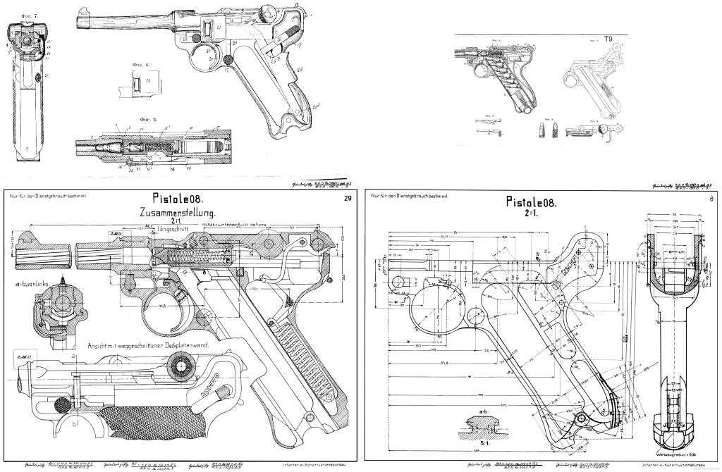 LUGER P08 BLUEPRINTS PDF