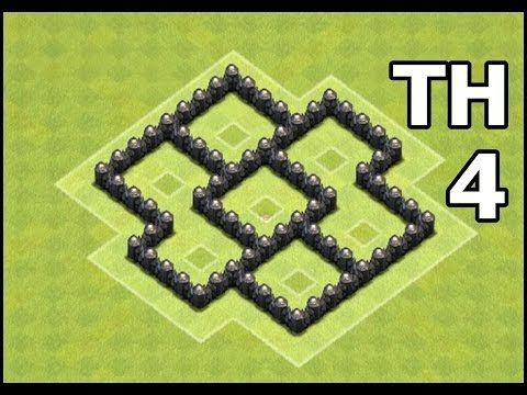 Town Hall 4 Farming Base Speed Build | Best Clash of Clans