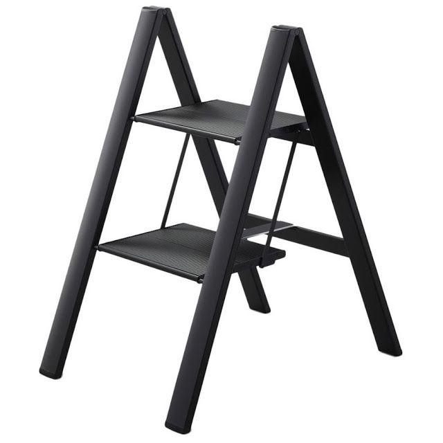 Folding Step Stool Ultra Slim Aluminum | Step Ladder | Modern Furniture Design  sc 1 st  Pinterest & Folding Step Stool Ultra Slim Aluminum | Step Ladder | Modern ... islam-shia.org