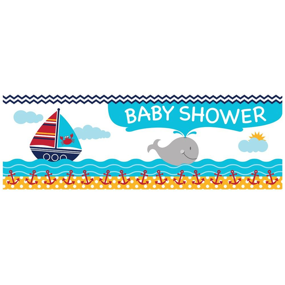 Ahoy Matey Baby Shower Giant Party Banner/Case of 6 Tags: Ahoy Matey!; Giant Banners; Baby Shower; baby shower party ideas;baby shower giant banners;baby shower party decorations;baby shower decorations; https://www.ktsupply.com/products/32786323664/Ahoy-Matey-Baby-Shower-Giant-Party-BannerCase-of-6.html