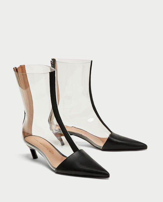 f6bb0392 Image 1 of VINYL HIGH HEEL ANKLE BOOTS from Zara | Zara AW17 ...