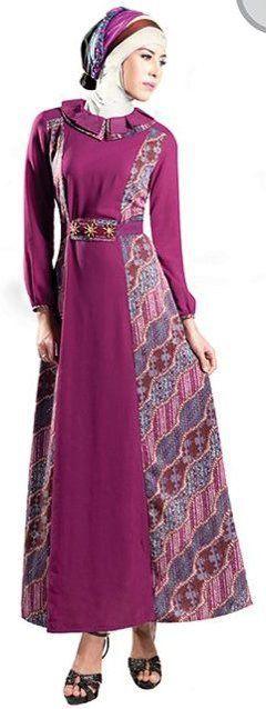 Model Baju Gamis Batik Kombinasi Terbaru Pakaian Ukuran Besar