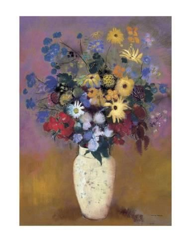 1914 by Odilon Redon Art Print Floral Flower Poster 11x14 Vase of Flowers