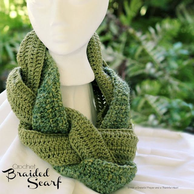 Crochet Braided Scarf Lovely Effect From Such A Simple Idea Thanks