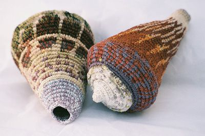 By Caroline a route: beautiful seashells in crochet.