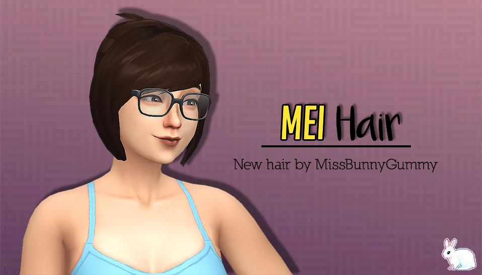 Miss Bunny Gummy : Mei Hair  | The Sims 4 MM cc | Sims 4 anime, Sims