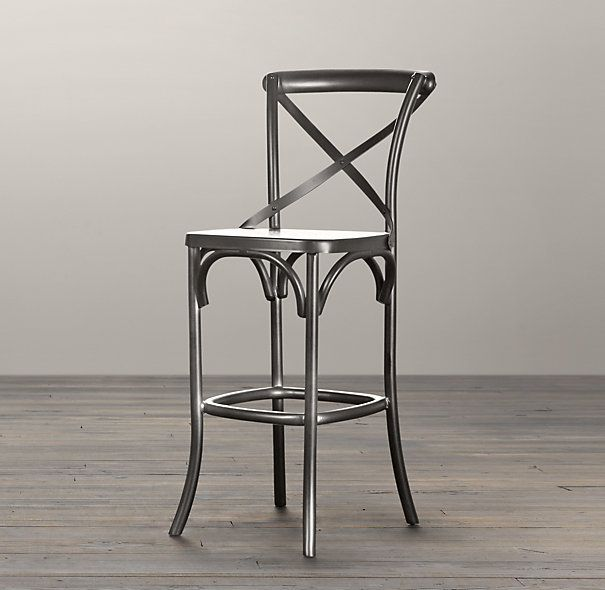 Beautiful Metal Madeleine Stool