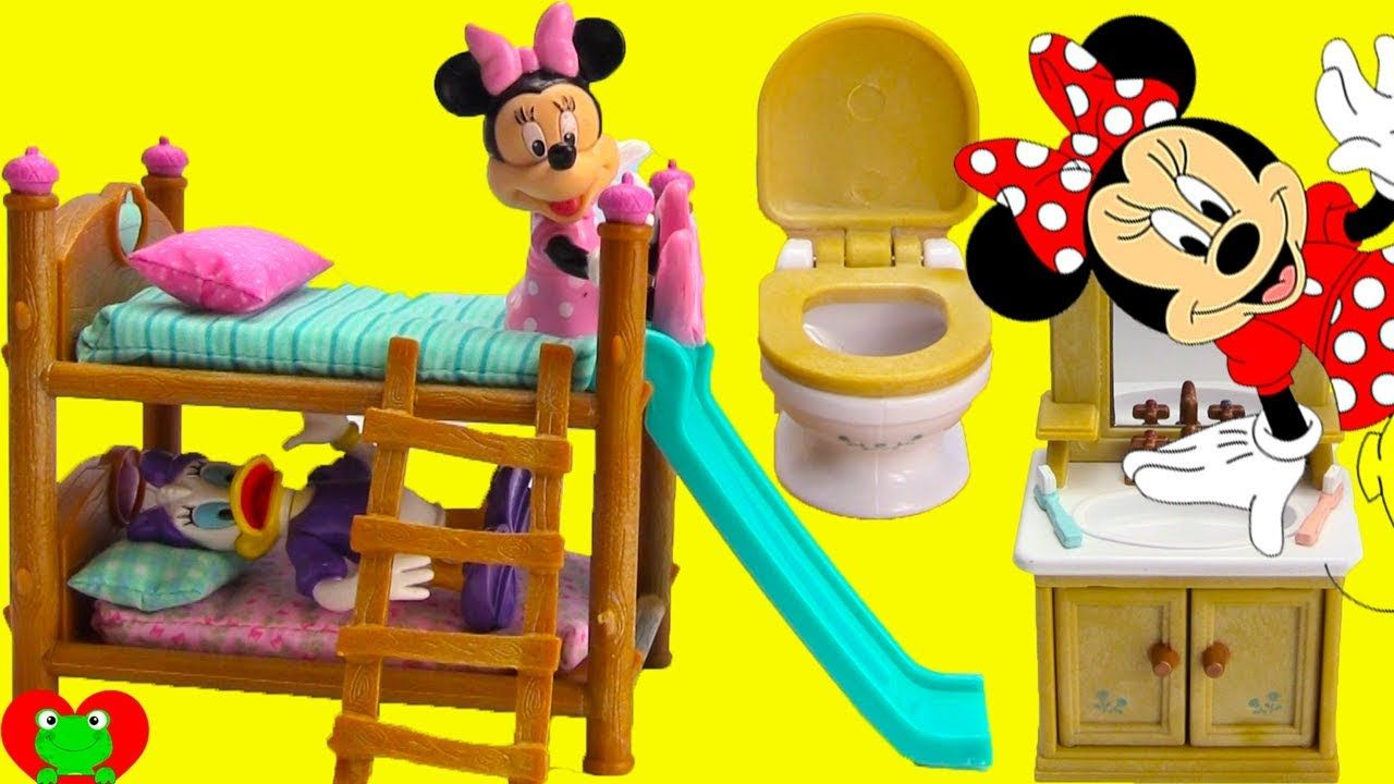 e1fee4dd6 Minnie Mouse and Daisy Bedtime Routine and Bunk Beds