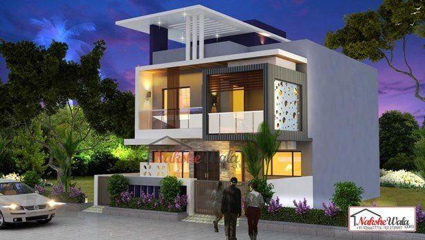 3d front elevation design indian front elevation kerala for Front house design for small houses