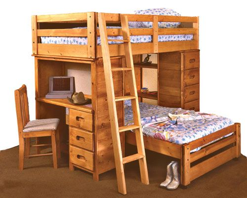Cinammon Rustic Cinnamon Pine Twin Loft Bed Palomino
