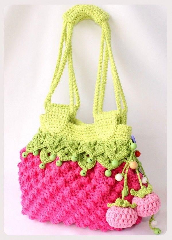 Kinder-Taschen häkeln in Fruchtform - DIY ✓ | Häkeln | Pinterest ...