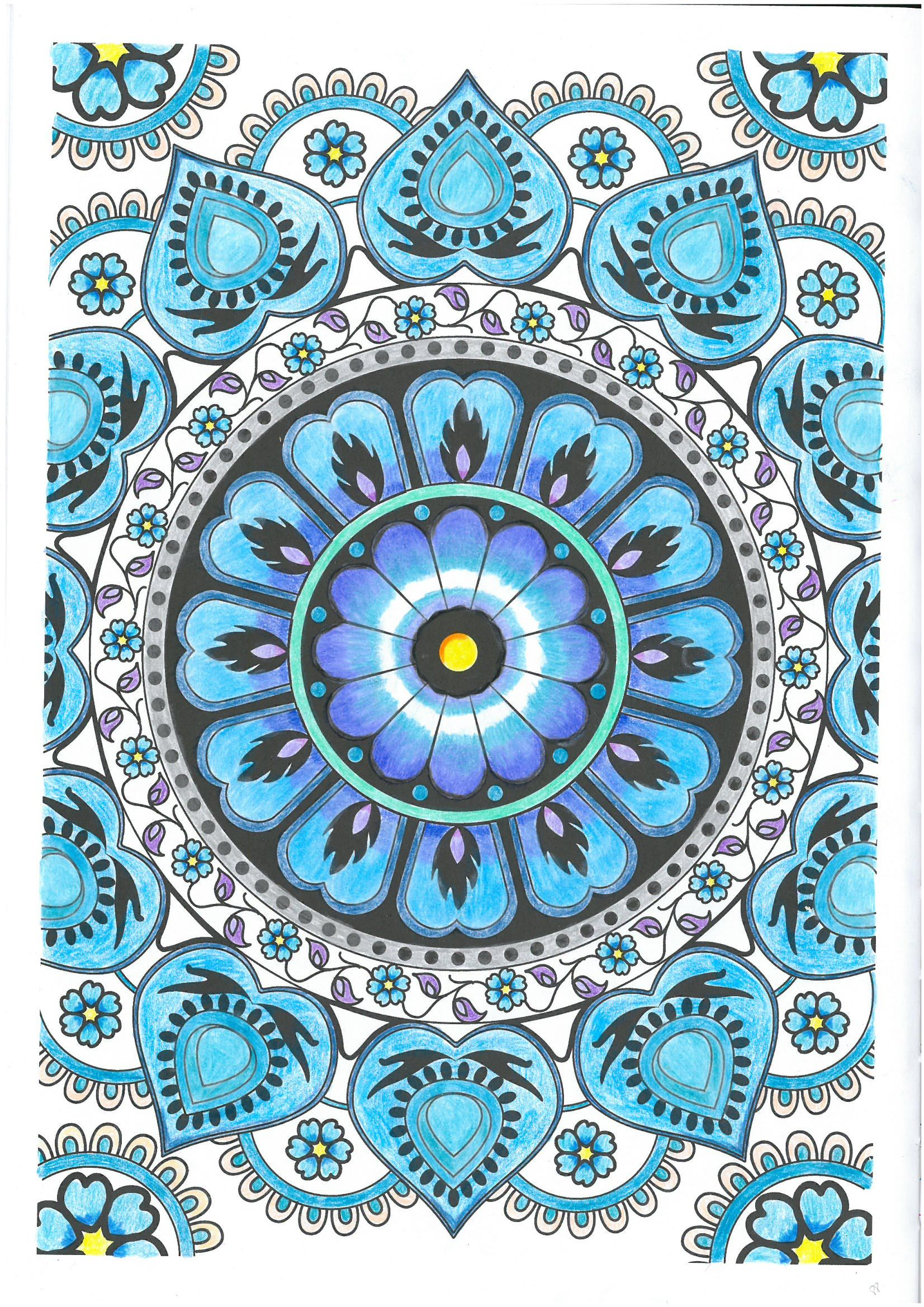 Pag 88, arte terapia, colorir, mandalas, pintado a lápis | Arte ...