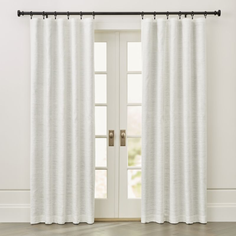 Silvana Ivory Silk Blackout Curtain Panel Crate And Barrel