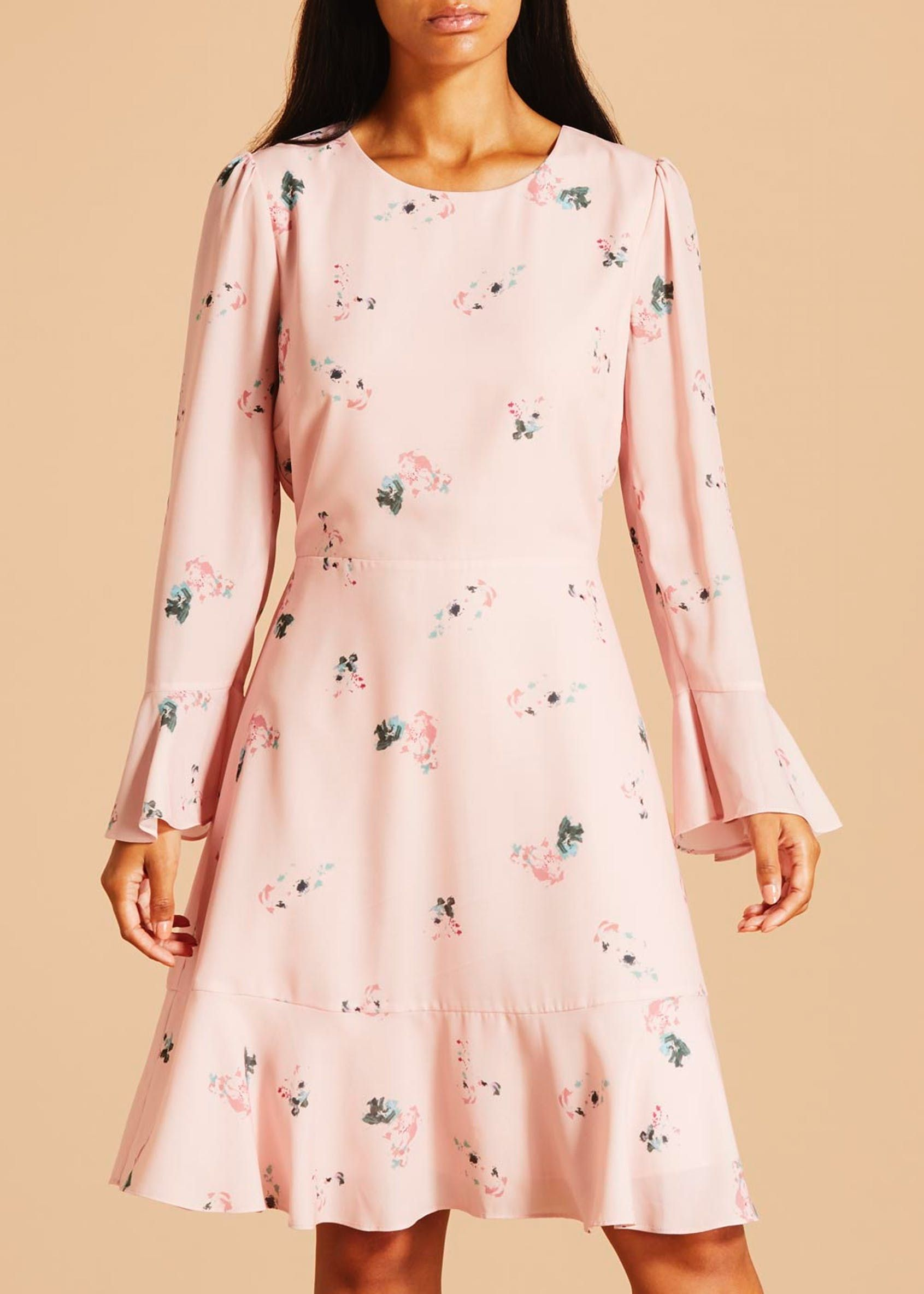 4c7d3386773349 FWM Floral Long Sleeve Dress - Pink | what to wear? | Long sleeve ...