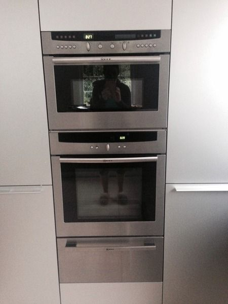 I have a Neff microwave\/combi, then a single oven \ a warming - ikea k che planen online