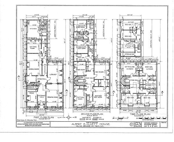 Old english blueprints floor plan hart cluett mansion for Old english floor