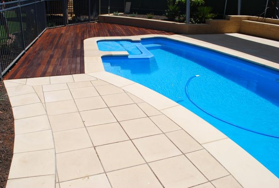 Sandstone Pool Pavers and Coping | Pool pavers, Swimming ...