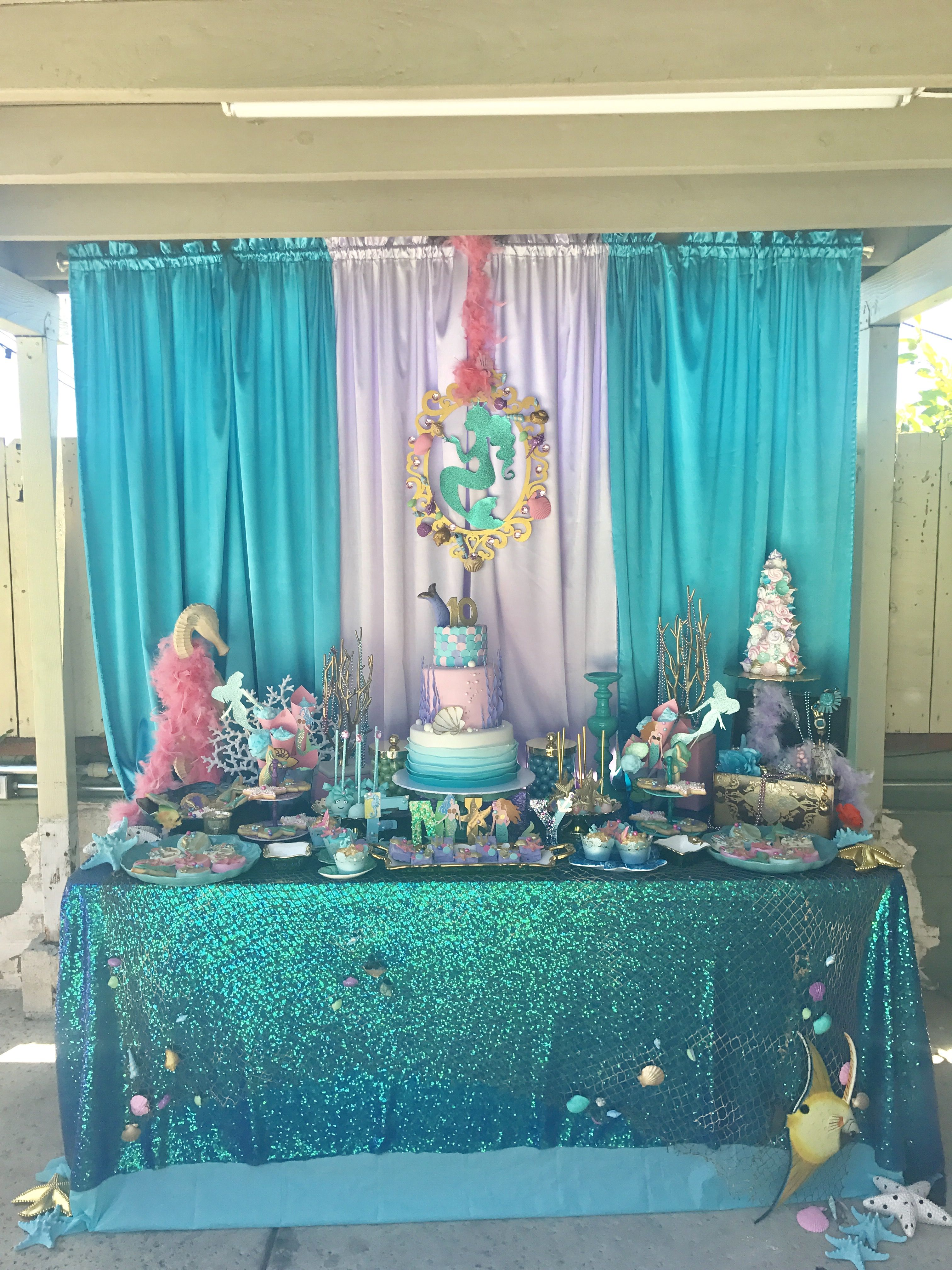 Groovy Mermaid Party Mermaid Party By Jcute Design Cupcakes Sweet Funny Birthday Cards Online Overcheapnameinfo