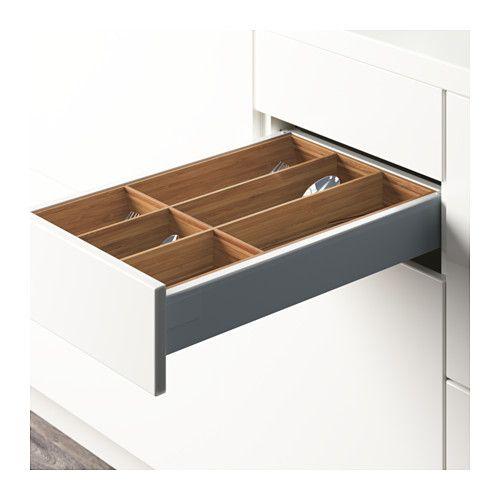 IKEA VARIERA Bamboo Flatware tray | Silverware drawer ...