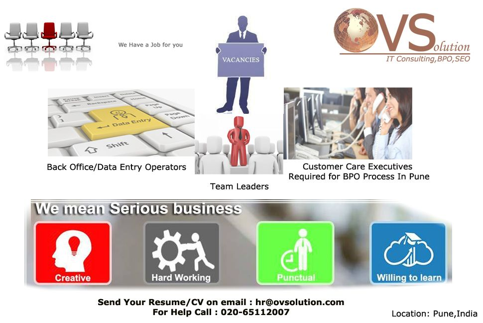 Ovsolution jobs in india job resume cv data entry