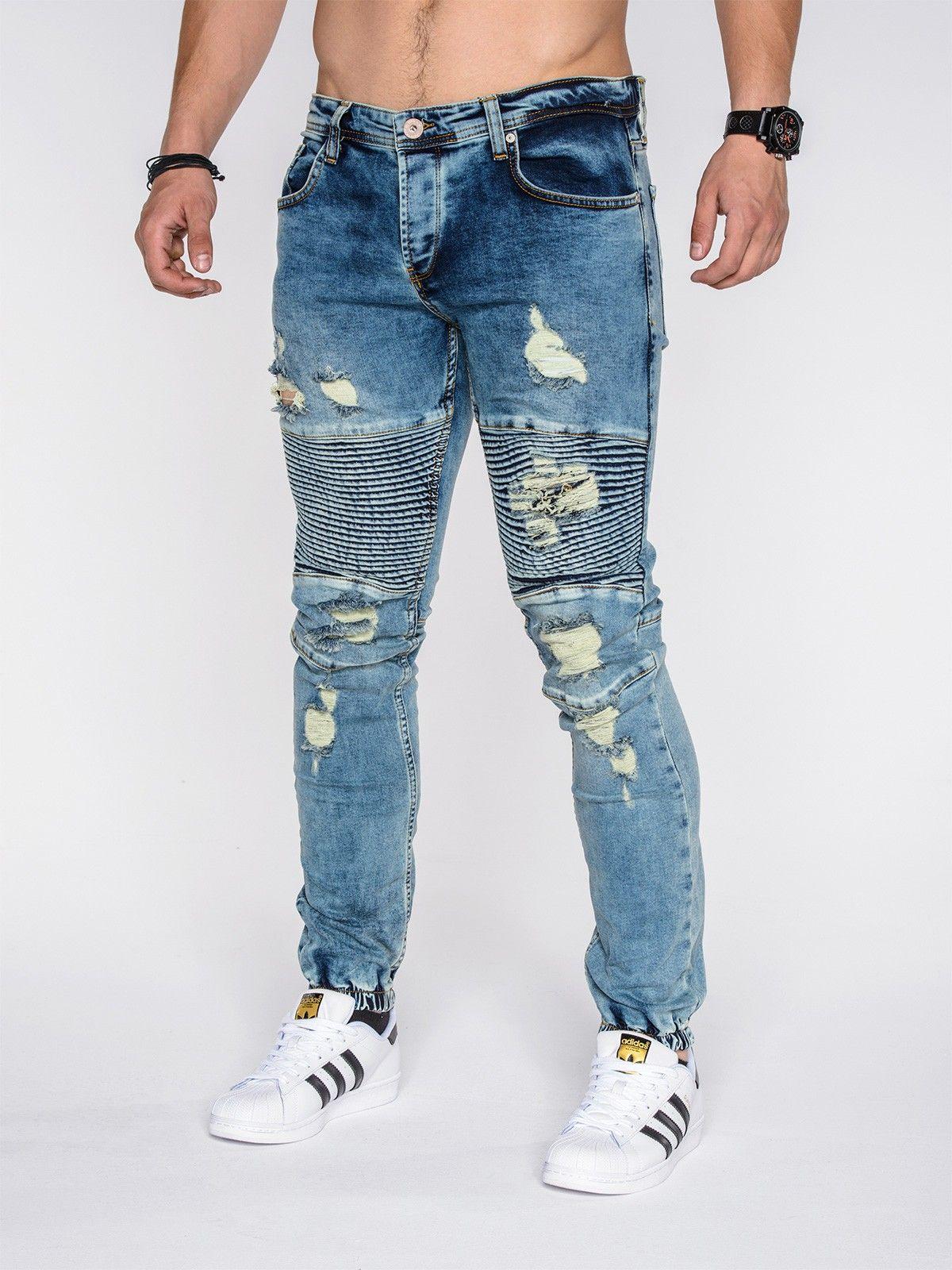 Cipo Baxx Jeans Uomo Jeans Pantaloni Straight Fit Cut Denim Casual Club Denim