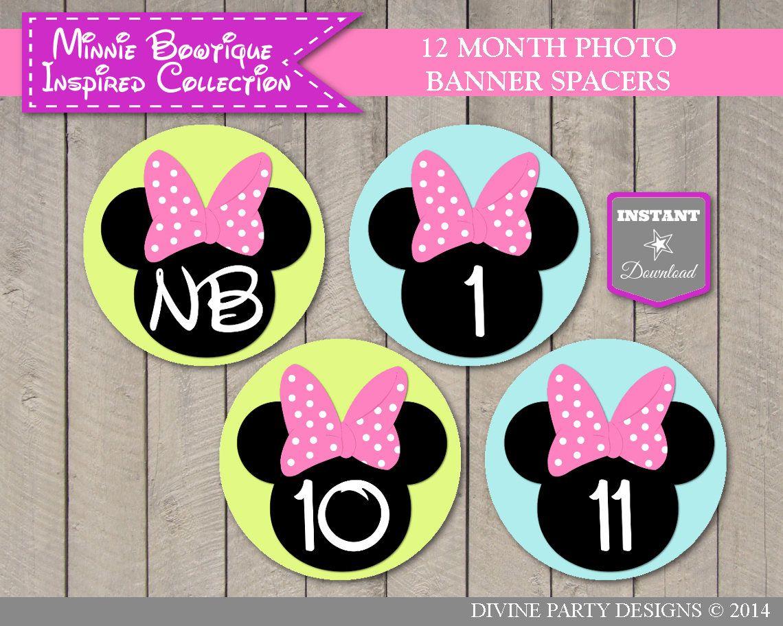 12 Minnie Mouse 1st Birthday