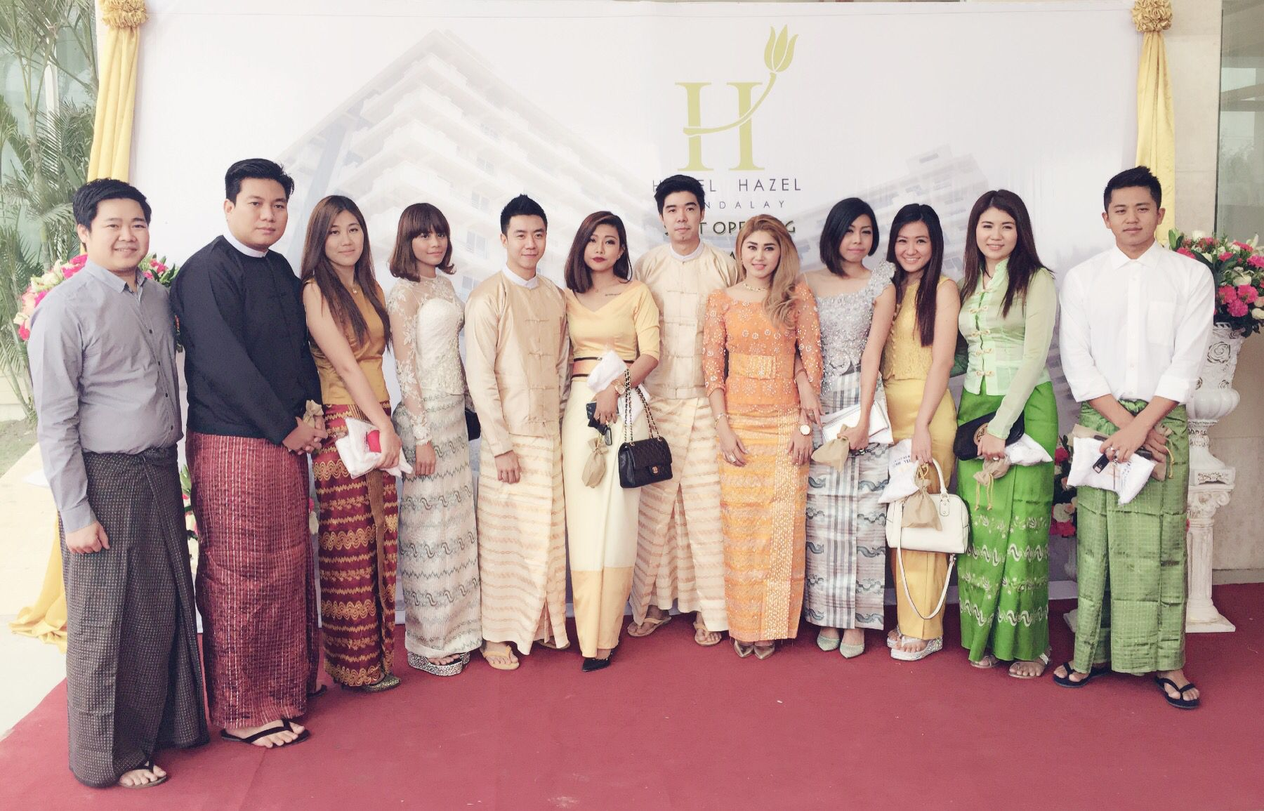 Burmese traditional dresses in different creations especially for women.