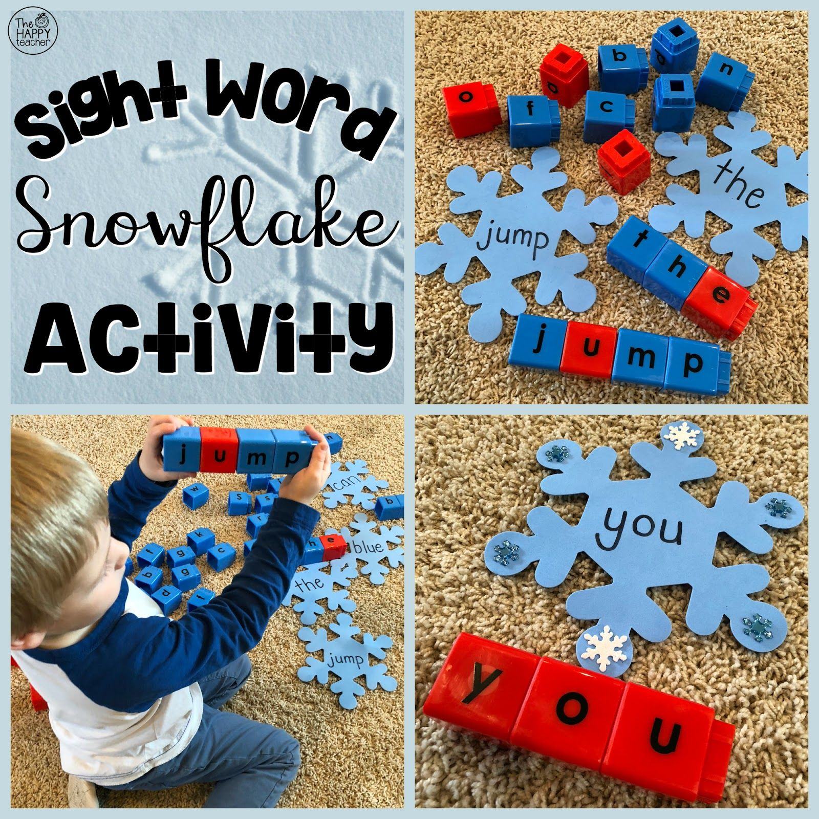 Sight Word Snowflake Activity