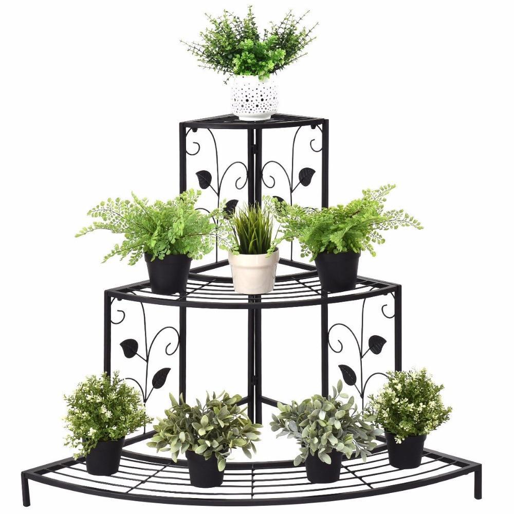 3 Tier Corner Metal Plant Stand Clasiv Metal Flower Pots Metal Plant Stand Corner Plant
