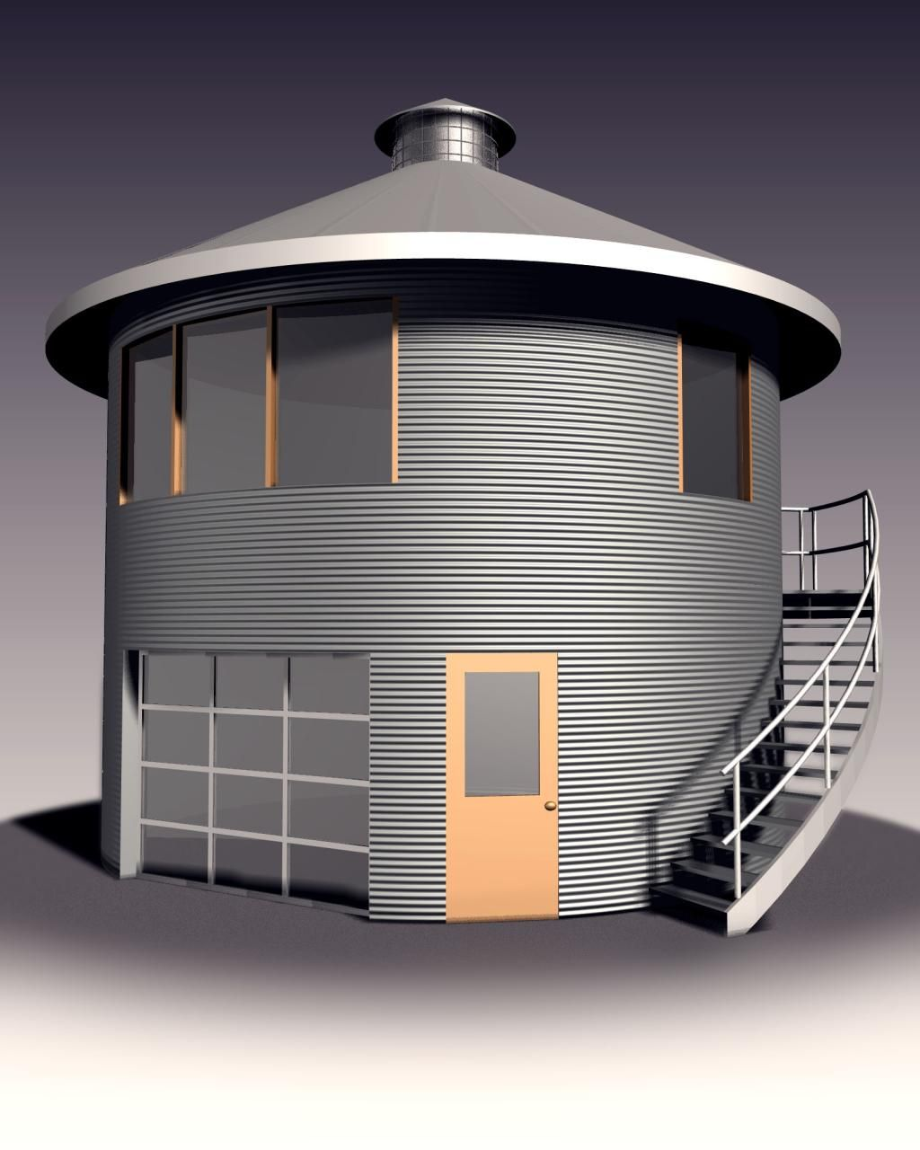 Grain bin homes on pinterest cabin plans round house