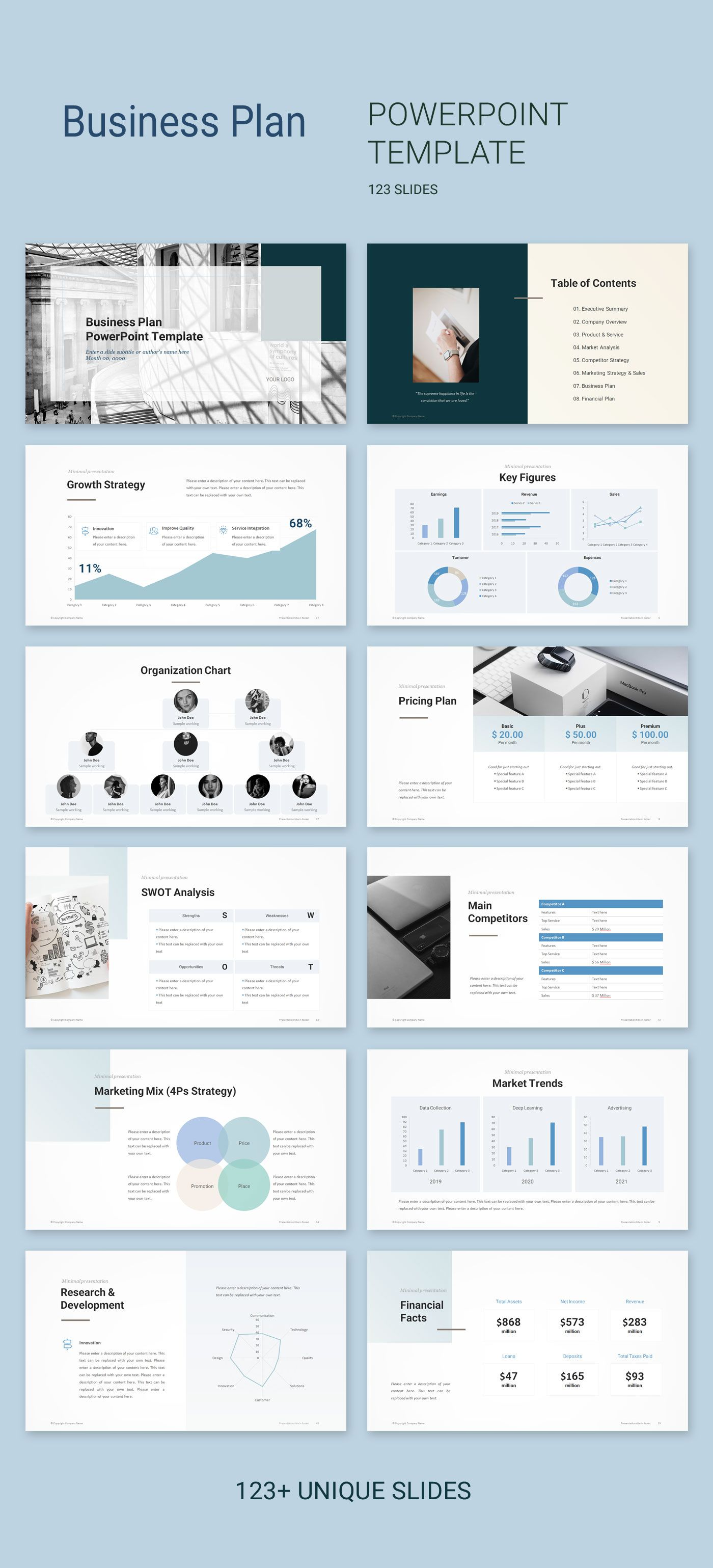 Business Plan PowerPoint Template 2019