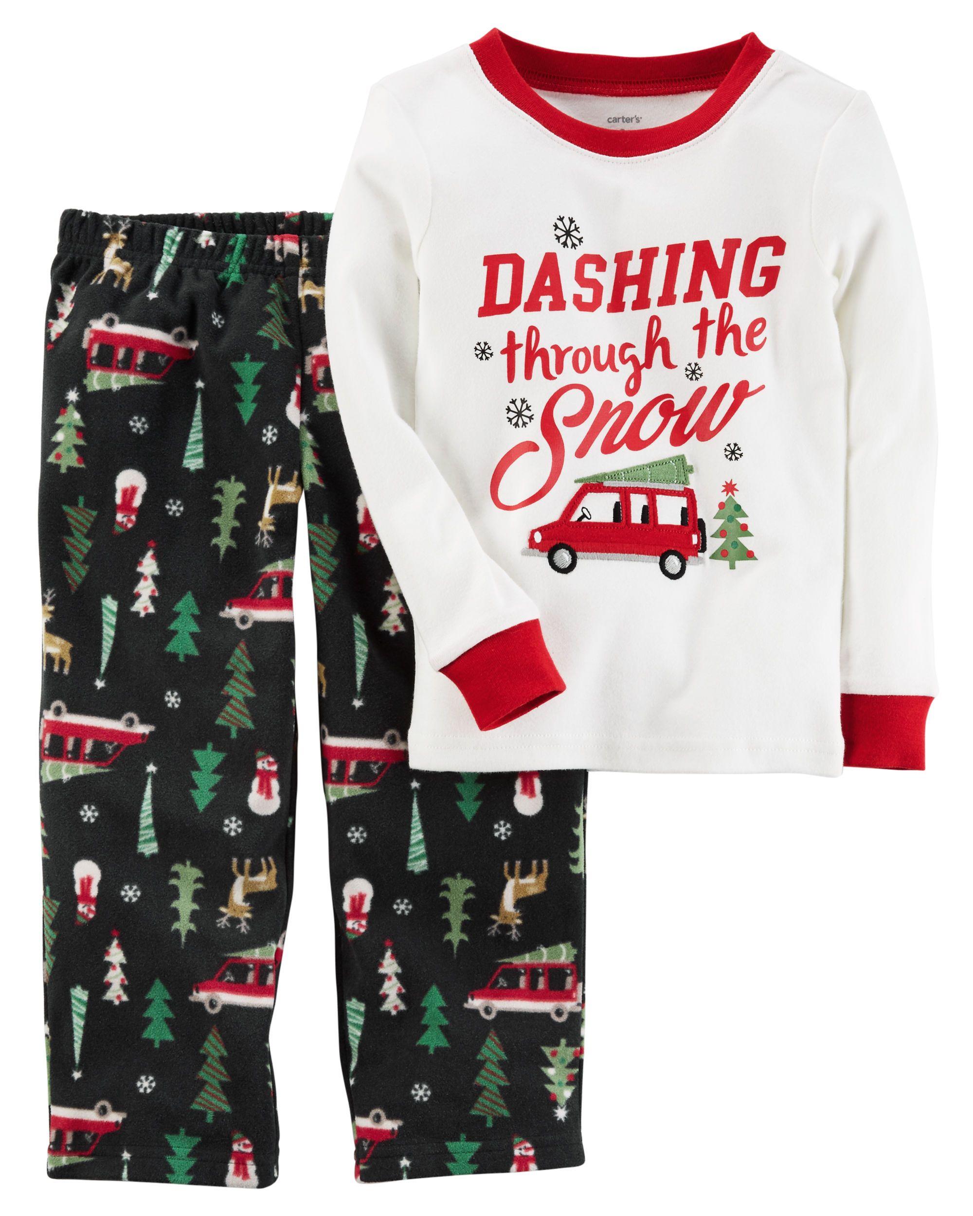 Toddler Boy Christmas Pajamas.2 Piece Christmas Cotton Fleece Pjs My Little Man Boys