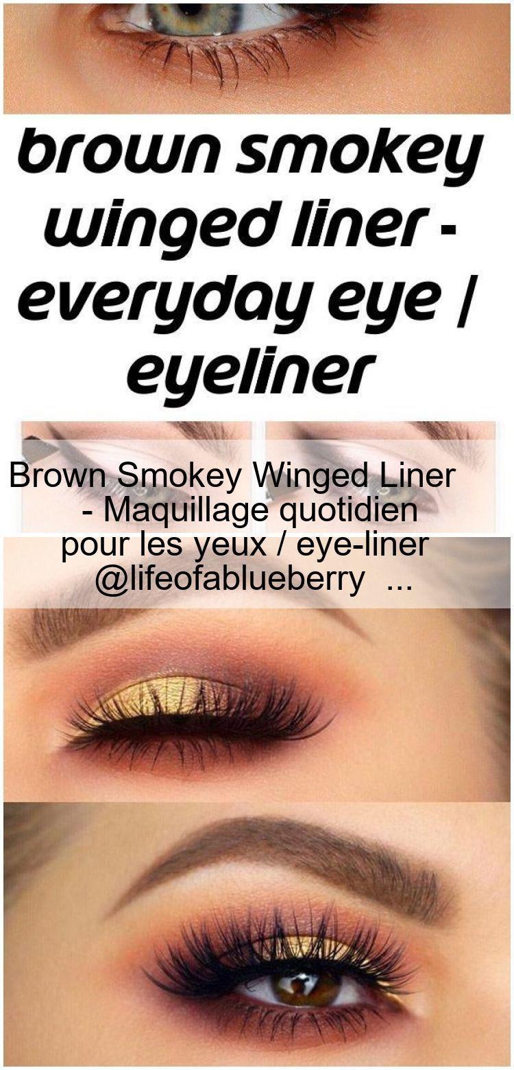 Brown Smokey Winged Liner - Daily eye makeup / eyeliner @lifeofablueberry ... - ... -  Brown Smokey Winged Liner – Daily eye makeup / eyeliner @lifeofablueberry … –  Brown Smokey W - #Brown #Daily #Eye #eyeliner #GorgeousMakeup #lifeofablueberry #liner #Lips #Makeup #Smokey #SmokyEye #winged #WingedLiner