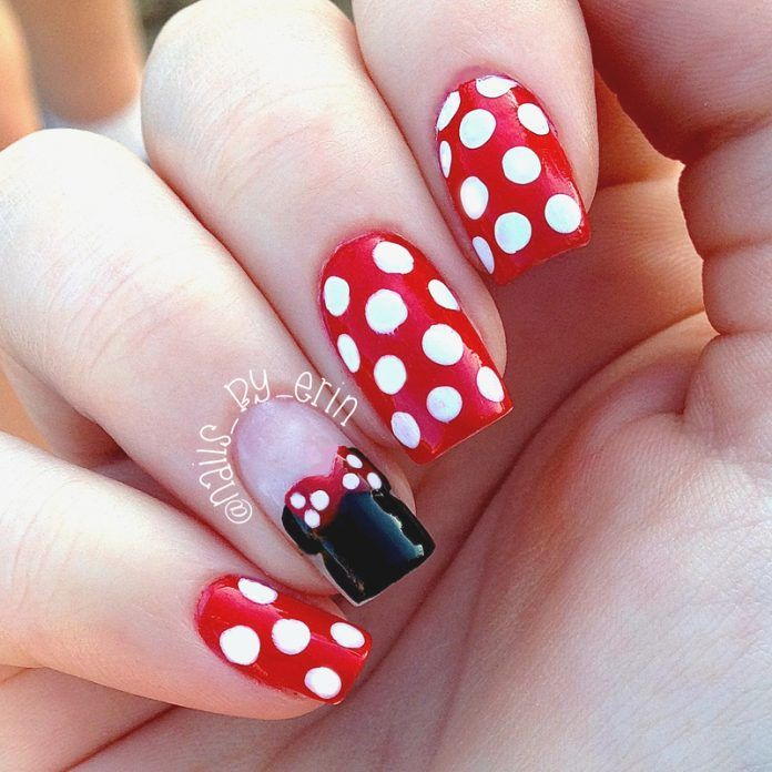 25 Minnie Mouse Nail Art   Nail Design Ideaz - Page 2 - 25 Minnie Mouse Nail Art Nail Design Ideaz - Page 2 Uñas
