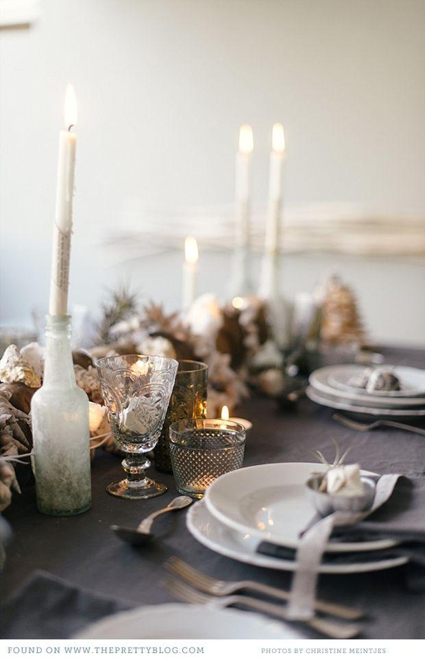 Summer Beach Christmas – Inspiration | Table setting wedding ...