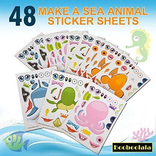 Booboolala 48 Piece Set Of Make Your Own Sea Sticker