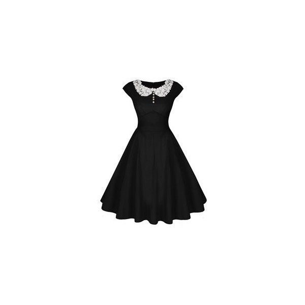 ACEVOG Women's Classy Vintage Audrey Hepburn Style 1940's Rockabilly... (€23) ❤ liked on Polyvore featuring dresses, vintage cocktail dresses, rockabilly dresses, vintage rockabilly dresses and vintage dresses