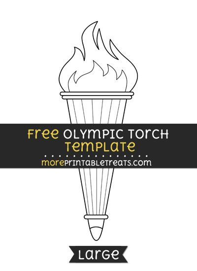 Free Olympic Torch Template Large Olympic Torch Olympic